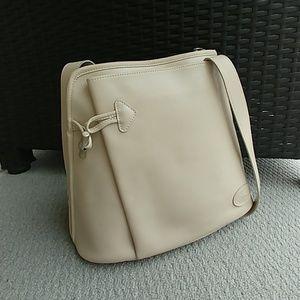 Longchamp Roseau leather crossbody toggle purse